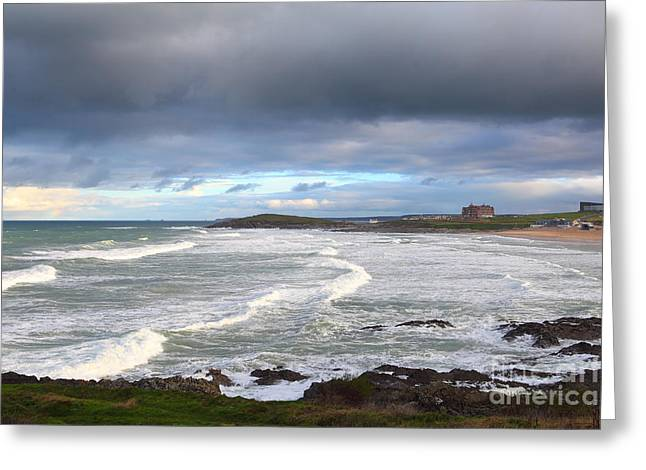 Greeting Card featuring the photograph Between Cornish Storms 1 by Nicholas Burningham