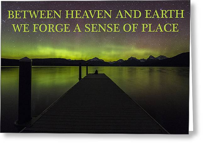 Between Heaven And Earth Greeting Card by Sandra McGinley