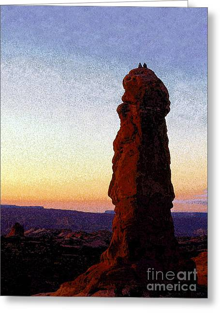 Between Rock And Sky Greeting Card