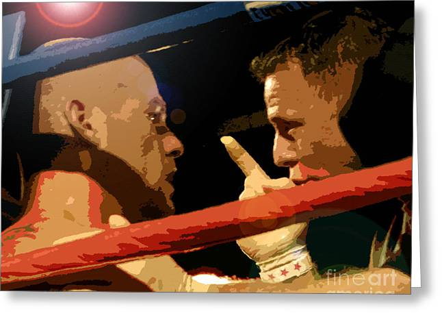 Between Rounds Greeting Card by David Lee Thompson