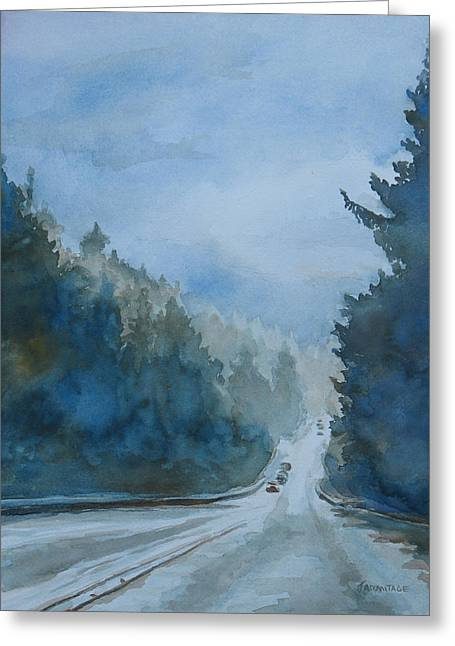 Between The Showers On Hwy 101 Greeting Card
