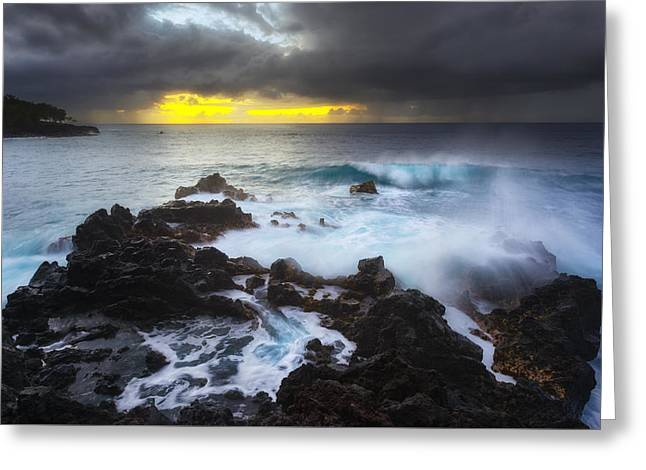 Between Two Storms Greeting Card by Ryan Manuel
