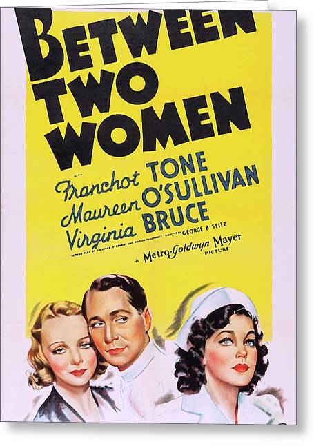Between Two Women 1937 Greeting Card