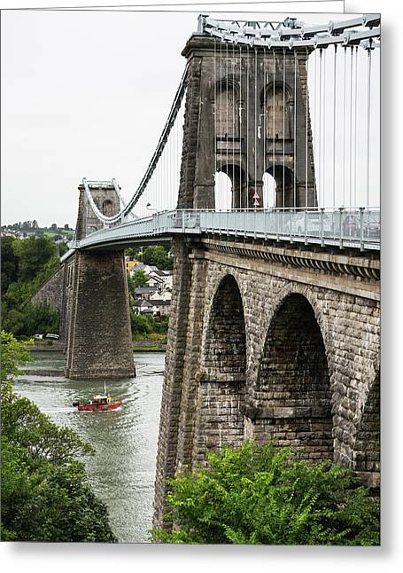 Between Wales And Anglesey  Greeting Card