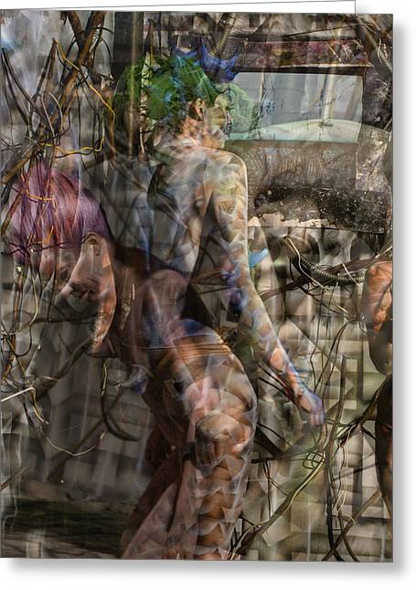 Between Worlds Greeting Card by Leigh Odom
