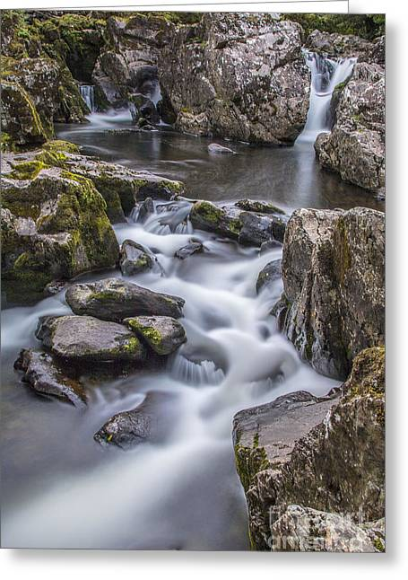 Betws Y Coed Cascade Greeting Card by Chris Evans