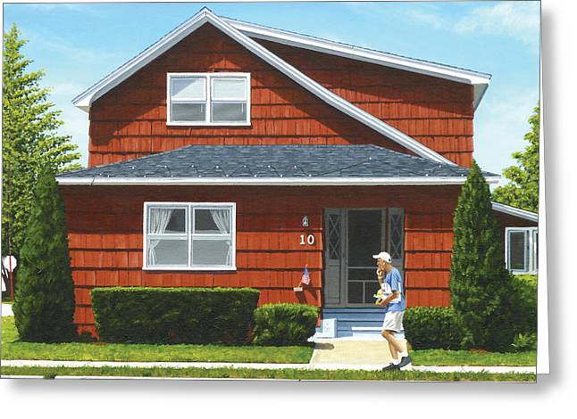 Beulah House Greeting Card by Michael Ward
