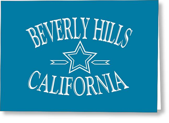 Beverly Hills California - Tshirt Design Greeting Card by Art America Gallery Peter Potter