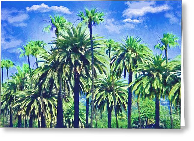 Beverly Hills Palms Greeting Card