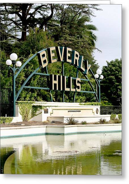 Beverly Hills Reflection Greeting Card by Art Block Collections