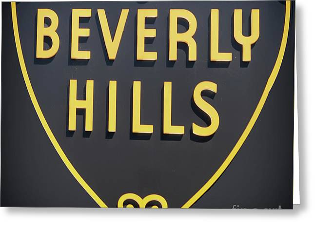 Beverly Hills Sign Greeting Card by Mindy Sommers