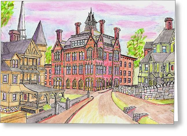 Beverly Odd Fellows Hall Greeting Card by Paul Meinerth