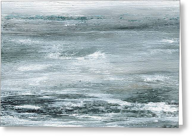 Bewildered Sea Greeting Card by Judy Jacobs