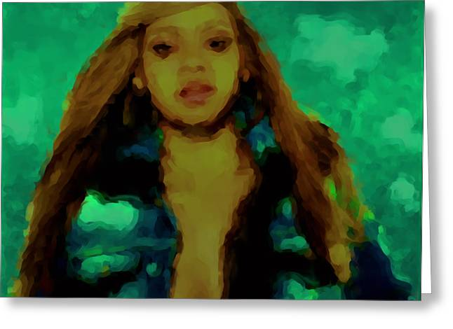 Beyonce 04a Greeting Card by Brian Reaves