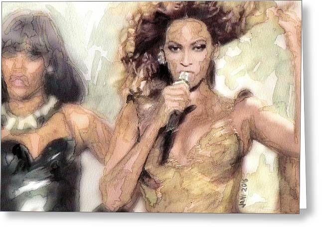 Beyonce 9 Greeting Card by Jani Heinonen