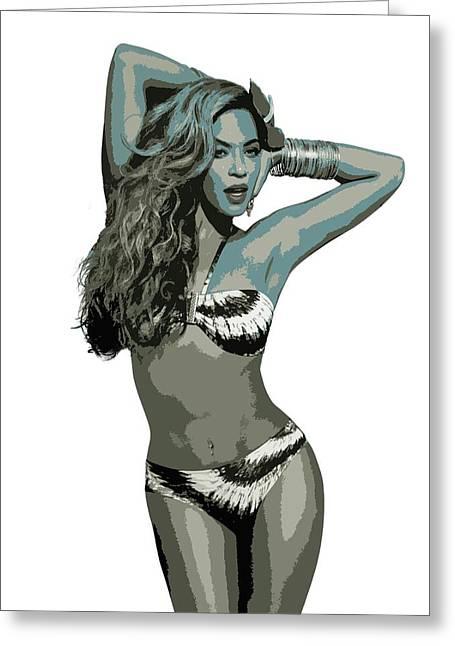 Beyonce Cutout Art Greeting Card
