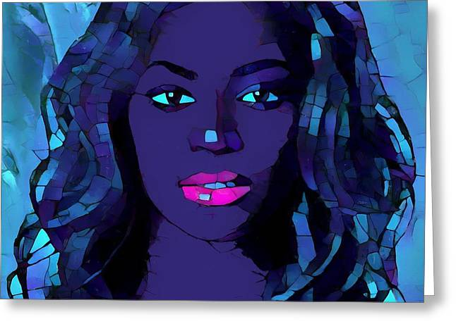 Beyonce Graphic Abstract Greeting Card by Dan Sproul