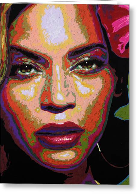 Beyonce Greeting Card by Maria Arango