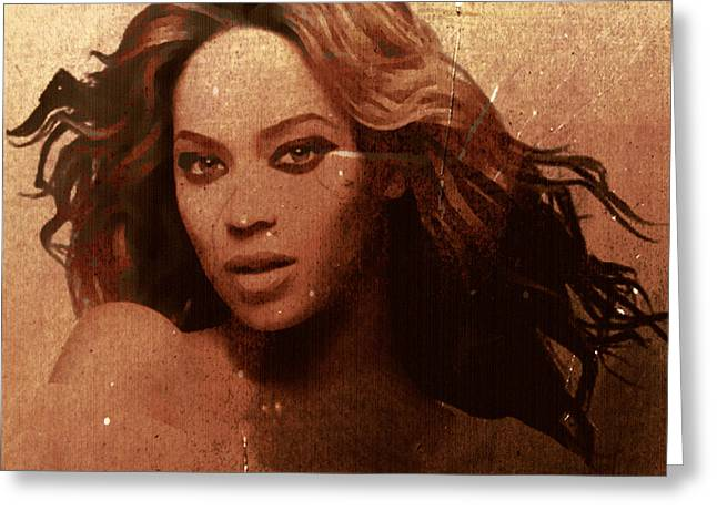 Beyonce Simple By Gbs Greeting Card