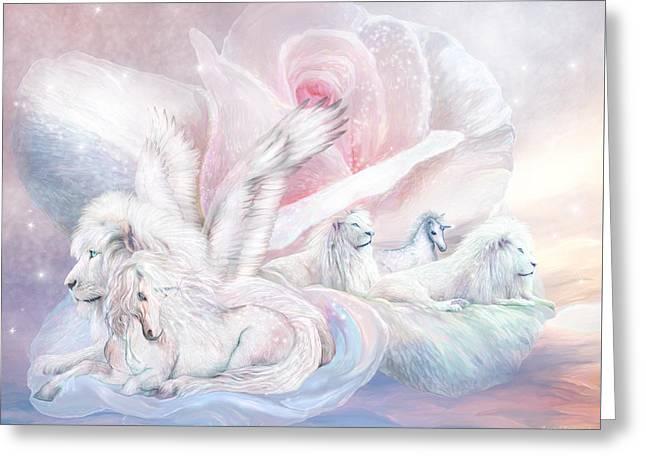 Beyond Fantasy 2 Greeting Card by Carol Cavalaris