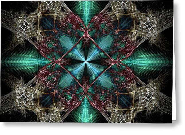 Beyond Four Doors Greeting Card by Elizabeth McTaggart