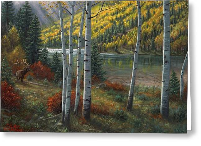 Beyond The Aspens Greeting Card by Asa Gochenour