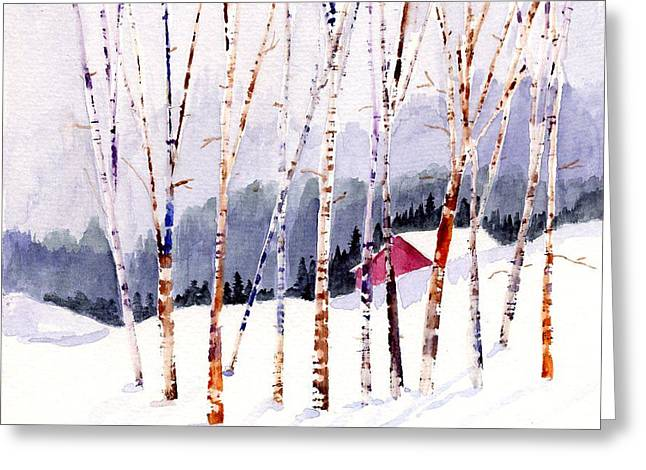 Beyond The Birch Thicket Greeting Card