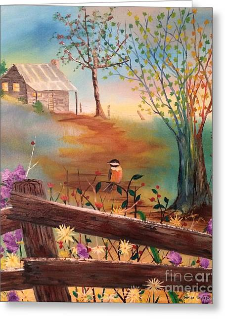Greeting Card featuring the painting Beyond The Gate by Denise Tomasura