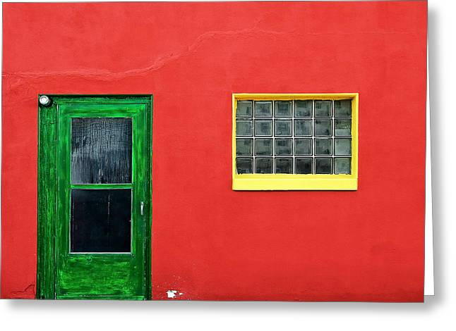 Beyond The Green Door Greeting Card by Todd Klassy