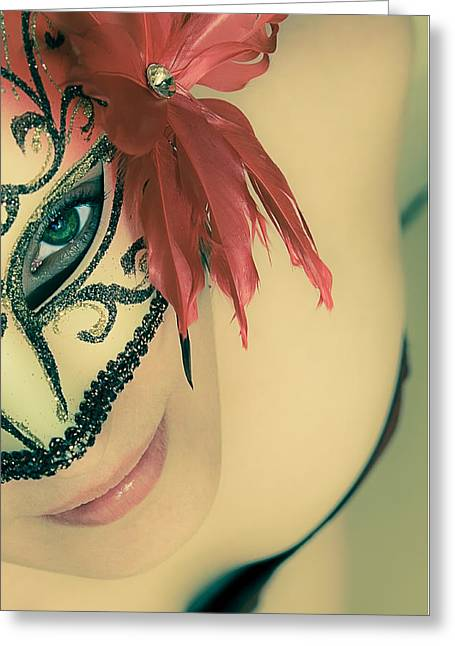 Beyond The Mask #02 Greeting Card by Loriental Photography