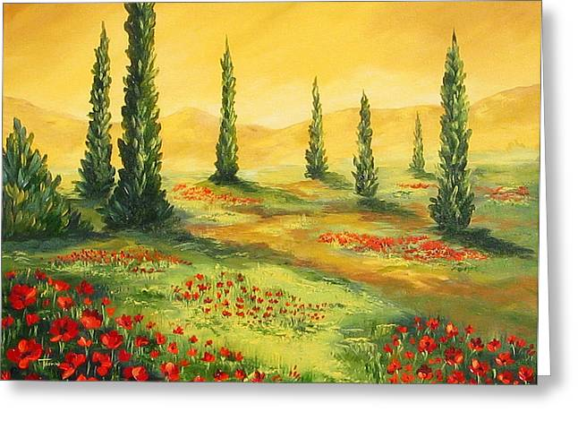 Beyond The Tuscan Sun  Greeting Card by Torrie Smiley
