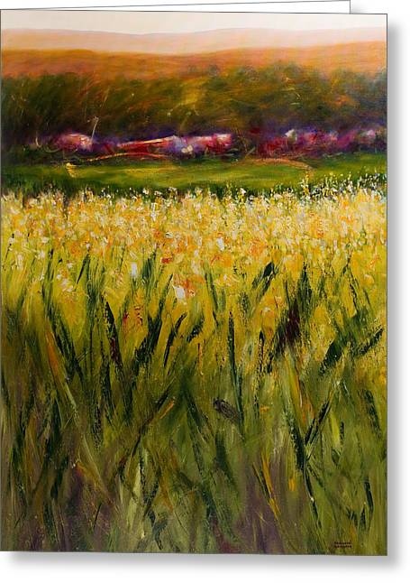Beyond The Valley Greeting Card by Shannon Grissom