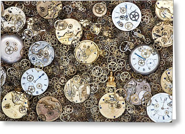 Beyond Time Greeting Card by Tim Gainey