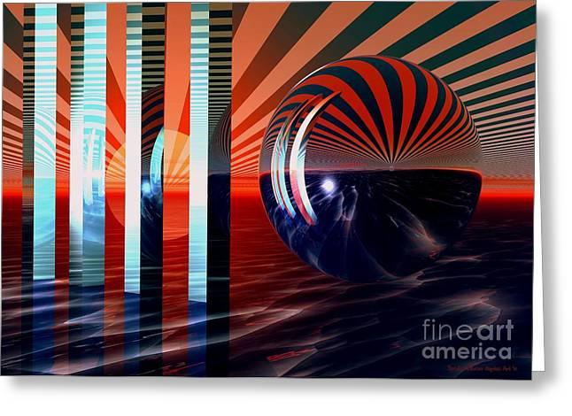 Beyond Tomorrow Greeting Card by Sandra Bauser Digital Art