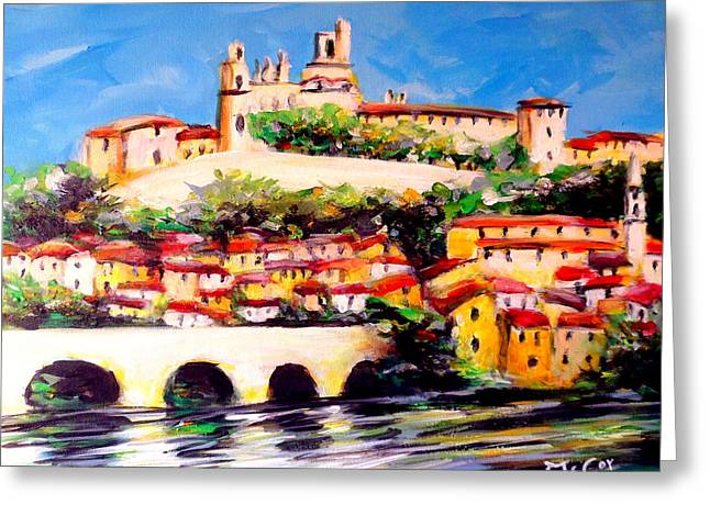 Beziers Reflections Greeting Card by K McCoy