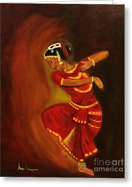 Bharatnatyam Dancer Greeting Card