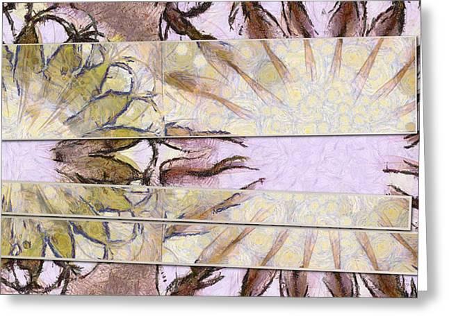 Bhungini Symmetry Flower  Id 16165-041903-68331 Greeting Card by S Lurk