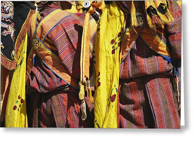 Bhutanese Ceremonial Dress Greeting Card by Michael Melford