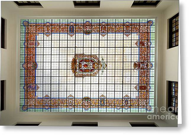 Bibataubin Palace Roof In Granada Spain Greeting Card by