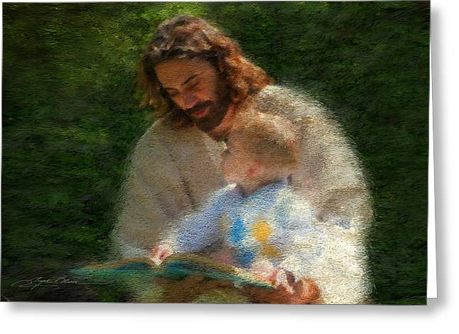 Greeting Card featuring the painting Bible Stories by Greg Olsen