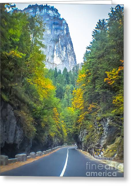 Bicaz Canyon Greeting Card