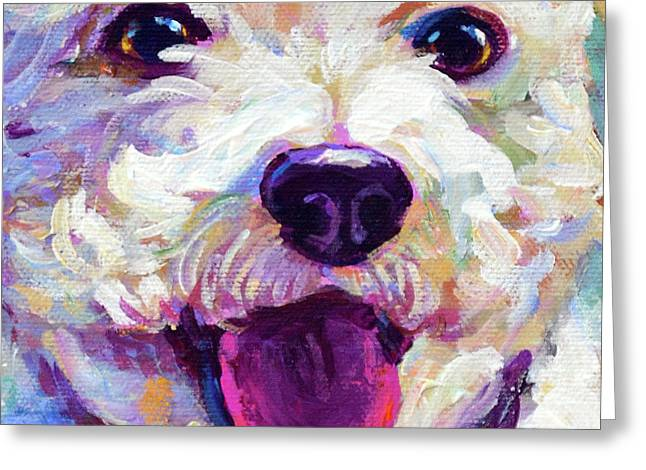 Bichon Frise Face Greeting Card
