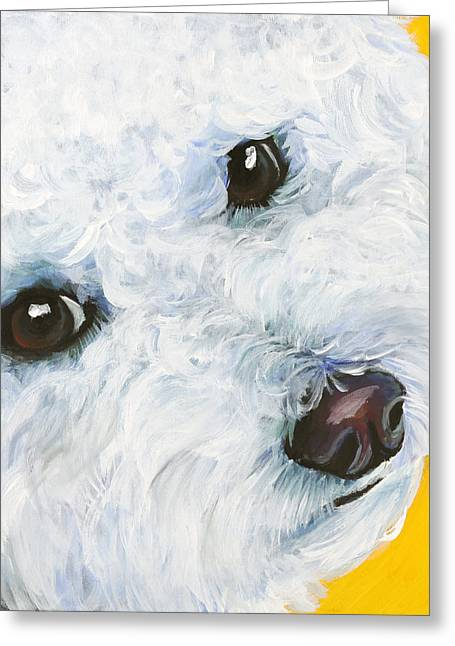 Bichon Frise Greeting Card by Melissa Smith