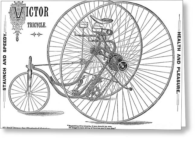 Bicycle, 1884 Greeting Card by Granger