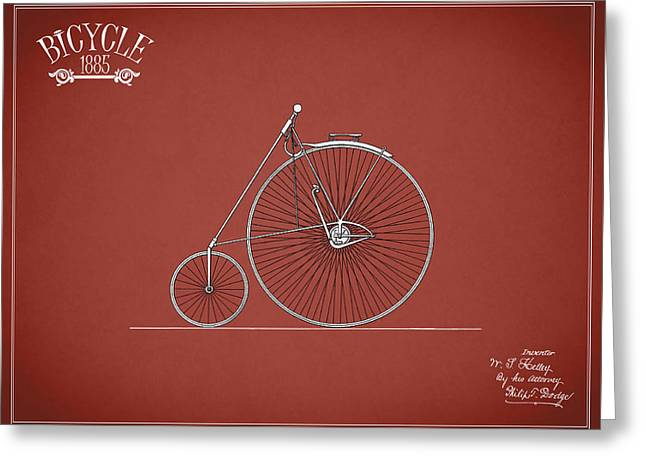 Bicycle 1885 Greeting Card by Mark Rogan