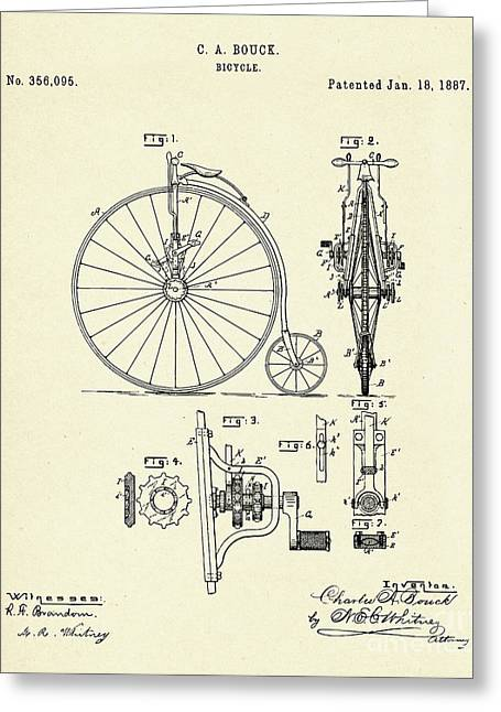 Bicycle-1887 Greeting Card by Pablo Romero