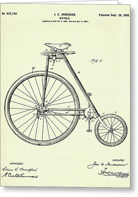 Bicycle-1899 Greeting Card by Pablo Romero