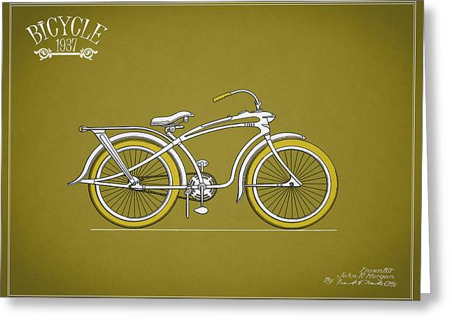 Bicycle 1937 Greeting Card
