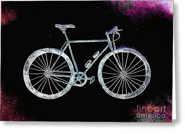Bicycle Abstract Greeting Card by Scott D Van Osdol