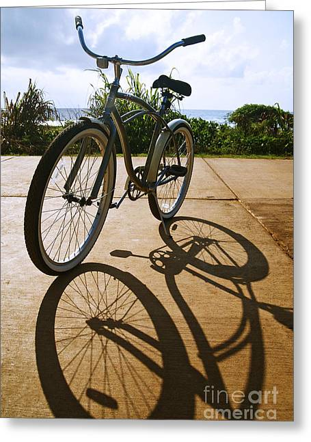 Bicycle And Shadow Greeting Card